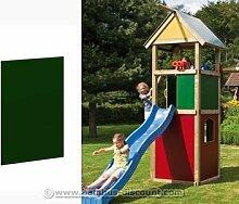 Holzwand für Spielhaus, geschlossen in grün mit 90x79cm - Kinderspielgeräte für Garten, Spielgeräte für Kinder, Spielturm, Spieltürme