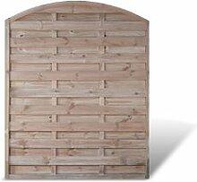 """Holzzaun Gartenzaun mit Bogen Maß 150 x 180 auf 160 cm (Breite x Höhe) aus Kiefer / Fichte Holz; druckimprägniert Holz """"Berlin Bogen"""