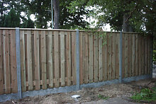 Holzzaun mit Betonpfosten 200x190cm pro Satz