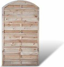 """Holzzaun Sichtschutzwände mit Bogen Maß 100 x 180 auf 160 cm (Breite x Höhe) aus Kiefer / Fichte Holz; druckimprägniert Holz """"Berlin Bogen"""