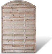 """Holzzaun Terrassen Sichtschutz mit Bogen Maß 120 x 180 auf 160 cm (Breite x Höhe) aus Kiefer / Fichte Holz; druckimprägniert Holz """"Berlin Bogen"""