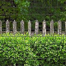 Holzzaun und Buxus - Zaun Sichtschutzstreifen für Doppelstabmatten inkl. Klemmschienen PVC frei