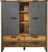 Hom`in HIGHBOARD Grau, Pinienfarben , 4 Fächer,