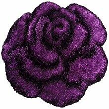 homara Teppich Shaggy Rose 3D - lila - 80x80 cm