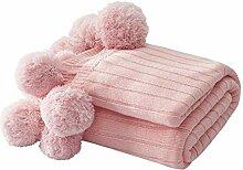 Homclo Wolldecke Schlafdecke Baumwolle Winter warm