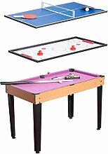 Homcom 3in 1Multi-Spiele Tisch Billard Tischtennis Hockey Tisch Top mit Zubehör