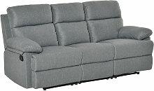 HOMCOM® 3-Sitzer Fernsehsofa | Relaxsofa | Leinen