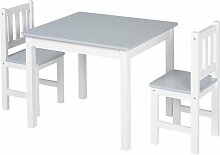 HOMCOM® 3-tlg. Kindersitzgruppe 1 x Kindertisch 2
