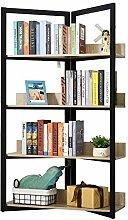 HOMCOM Bücherregal, 4-lagiges Design
