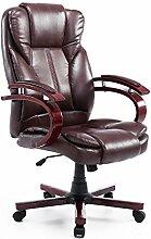Homcom® Bürosessel Bürostuhl Drehstuhl Chefsessel Sessel Schreibtischstuhl Stuhl Büro (braun)