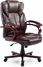 Homcom Bürosessel Bürostuhl Drehstuhl Chefsessel Sessel Schreibtischstuhl Stuhl Büro (braun)