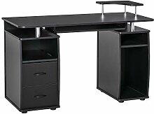 HOMCOM Computertisch Schreibtisch Bürotisch Home