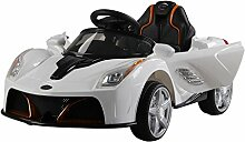 Homcom Elektrisches Auto für Kinder, 2 Motoren,