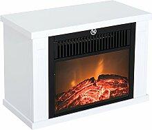Homcom® Elektrokamin Kaminofen 1200W Elektrischer Kamin Standkamin Flammeneffekt Weiß