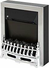 Homcom® Elektrokamin Kaminofen 2000W Elektrischer Kamin Wandkamin Flammeneffekt Silber