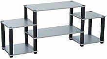 Homcom® Fernsehtisch TV Lowboard Ständer Regal Rack mit Ablage 136,5x36x57cm 2 Farben (Grau)