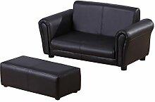 Homcom Kindersessel Kindersofa Sofa Sessel Kinder Softsofa (Modell2, Schwarz)