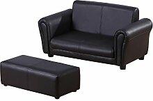 Homcom® Kindersessel Kindersofa Sofa Sessel Kinder Softsofa (Modell2, Schwarz)