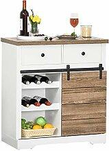 HOMCOM Küchenschrank Sideboard mit 2 Schubladen