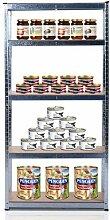 Homcom Lagerregal, 180 cm, mit 5 Ablageflächen, hohe Belastbarkeit, Garagenregal