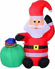 Homcom LED Figur Motiv Weihnachten Weihnachtsmann