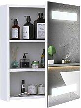 HOMCOM LED Spiegelschrank Lichtspiegel Badspiegel