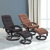 HOMCOM Massagesessel TV Sessel Fernsehsessel mit Wärmefunktion Braun/Schwarz