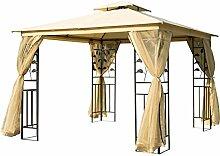 HOMCOM Outsunny Luxus Pavillon Gartenpavillon