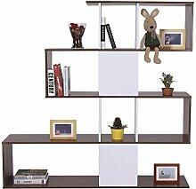 Homcom® Regal Standregal Bücherregal Raumteiler