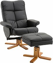 HOMCOM Relaxsessel Fernsehsessel Sessel mit Hocker