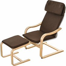 HOMCOM® Relaxsessel mit Fußhocker Ruhesessel mit