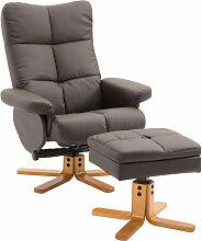 HOMCOM® Relaxsessel mit Hocker Fernsehsessel