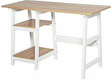 HOMCOM Schreibtisch mit Bücherregal,