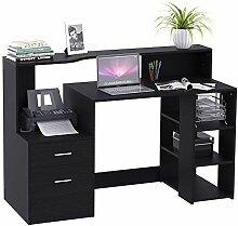 HOMCOM Schreibtisch mit Regal Computertisch