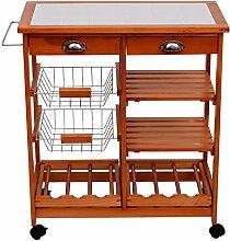 Homcom® Servierwagen Rollwagen Küchenwagen