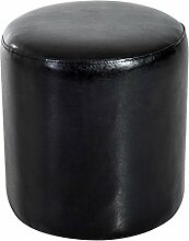 Homcom® Sitzhocker Sitzwürfel Polsterhocker Fußhocker Truhe, Kunstleder+Holz, Schwarz, 45x45x50cm