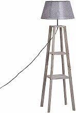 HOMCOM Stehlampe mit Regal, Skandinavische