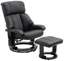 HOMCOM TV Sessel und Hocker mit Massage- und