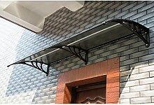 Homcom Vordach, 200x 80cm, für Fenster, Türe, Vordach, Gartenlaube, Dach; Verlängerungsteil zum Schutz vor Sonne und Regen,schwarz.