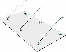 HOMCOM® Vordach Glas Türvordach Vordach Haustür
