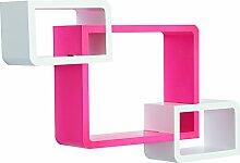 HOMCOM Wandregal Würfelregal Cube Regal mit 3