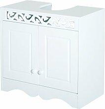 Homcom® Waschbeckenunterschrank Badschrank Waschtisch Unterschrank Badmöbel Weiß