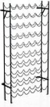 HOMCOM Weinregal Weinregal mit 10 Fächerebenen