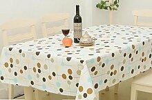 Homcomoda Tischdecken Sauber Wischen Plastik Vinyl Tischdecke Hauptrestaurant Party 140cm x 180cm