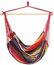 Homdox Hängematte Hängeliege mit Querholz 6 Farben 200 x 140 cm Belastbarkeit bis 250 kg