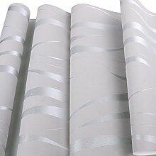Homdox Tapete Vliestapete Einfache moderne Tapeten Wandtapete für Wohnzimmer, Schlafzimmer und TV Hintergrund (Silber)