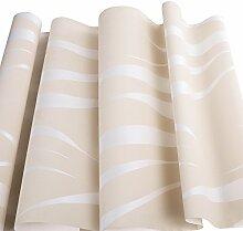 Homdox Tapete Vliestapete Einfache moderne Tapeten Wandtapete für Wohnzimmer, Schlafzimmer und TV Hintergrund (Beige)