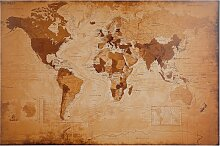 Home affaire Bild Weltkarte - antik 90x60 cm braun