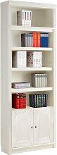 Home affaire Bücherregal Cliff 80x29x185 cm weiß