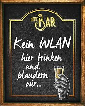 Home affaire Deco-Panel Kein WLAN 40x50 cm schwarz